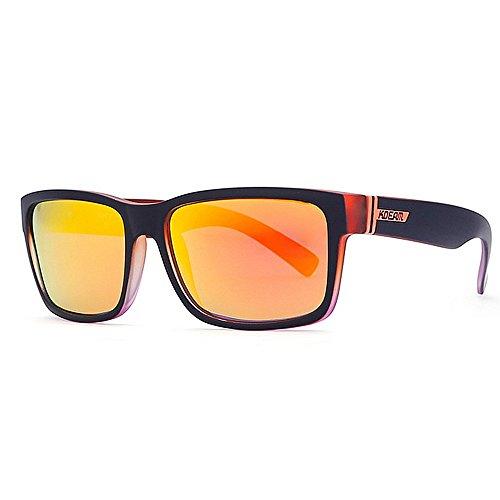 Gafas NO34 Sol De Gafas De Coloridas de Gafas Reales Gafas NO33 De para Marca KTYX Hombres Cuadradas Deportivas Polarizadas Sol Sol Color 6174nwq