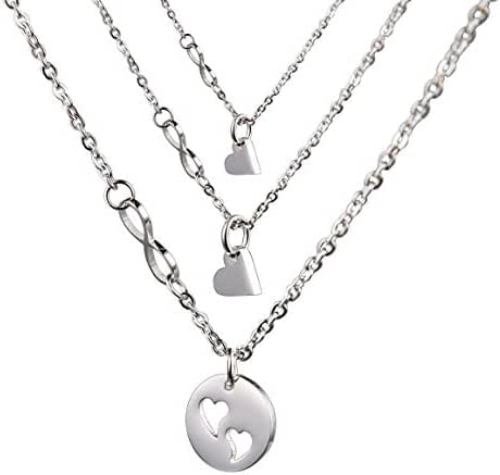 O.RIYA Mother Daughter Necklace Stainless Steel With Infinity Link Set