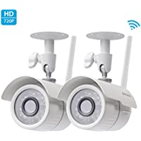 Zmodo 720p HD Outdoor Home Wireless Security Surveillance Video Cameras System (2 Pack)