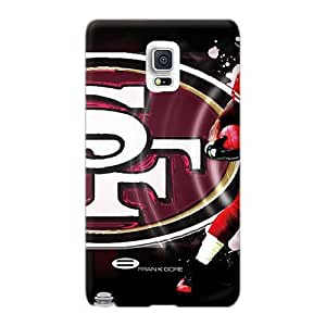 LeoSwiech Samsung Galaxy Note 4 Shockproof Hard Phone Cases Allow Personal Design Realistic San Francisco 49ers Series [juN9991UpAB]