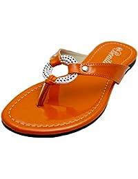 Women's Flip Flops Thong Flat Sandals V-08