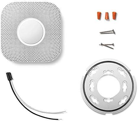 Nest Protect 2 Detector de mon/óxido de Carbono Interconectables Inal/ámbrico Corriente alterna, 38,5 mm, 135 mm, 135 mm, 375 g, 4-38 /°C Detector de Humo