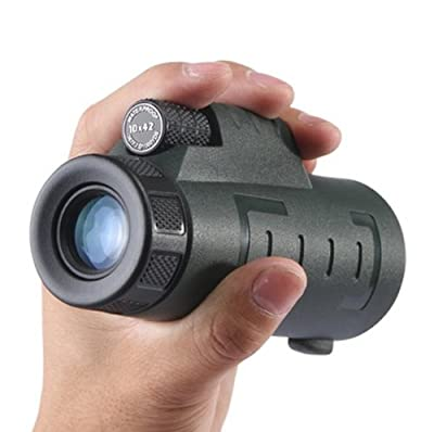 Polaris Optics Ranger – 10X42 Official Bird Watcher's Monocular - For Birdwatching, Watching Wildlife and Scenery – Compact, Durable and Lightweight - Waterproof and Fogproof - One Hand Focus