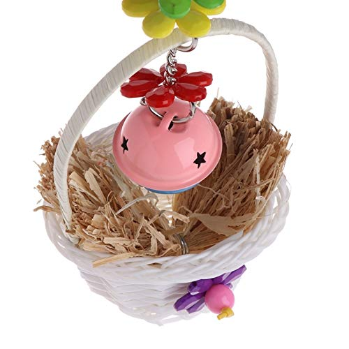 Bird Toys - 2019 Pet Parrot Toy Swing Flower Basket Bell Bite Chew Birds Aging Decor Bird - Under Rope Conures Sneakers Macaw Cockatoo Sticks Accessories Bells Bridge Nest Trapeze Prime