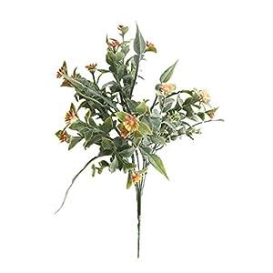Artificial Silk Chrysanthemum Daisy Flower Bouquet, Fake Plastic Greenery Foliage Plants for Home Hotel Office Wedding Party Table Garden Farmhouse Outdoor Decor Craft Art Décor DIY 92