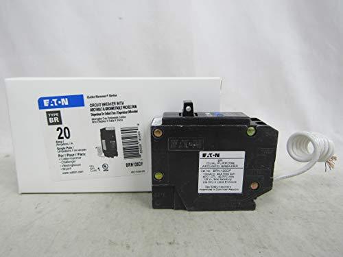 Eaton BRN120DF Breaker, 20A, 1P, 120/240V, 10 kAIC, Type BR AFCI/GFCI from Eaton