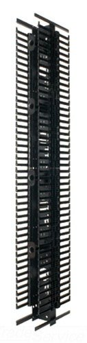 Panduit PRV12 Vertical Cable Manager with Steel Back and Finger, Black