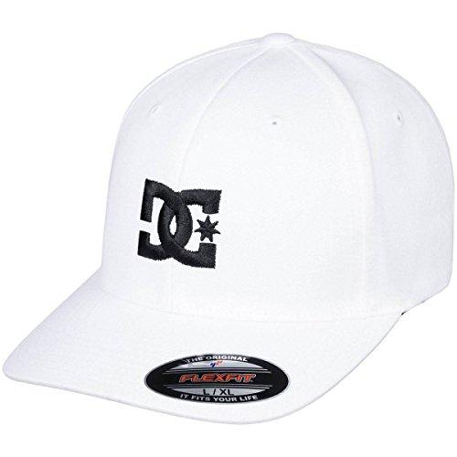 DC Men's Cap Star 2 Hat, White/Black, S/M from DC