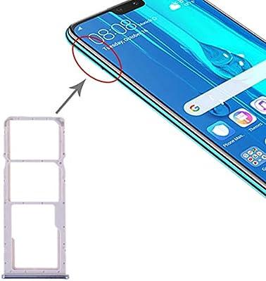 Repuestos para Smartphone Bandeja de Tarjeta SIM + Bandeja de Tarjeta SIM + Bandeja de Tarjeta Micro SD for Huawei Y9 (2019) (Negro) Flex Cable (Color : Silver): Amazon.es: Electrónica