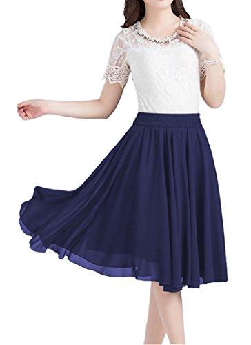 Chiffon Knee Length Skirt - 3