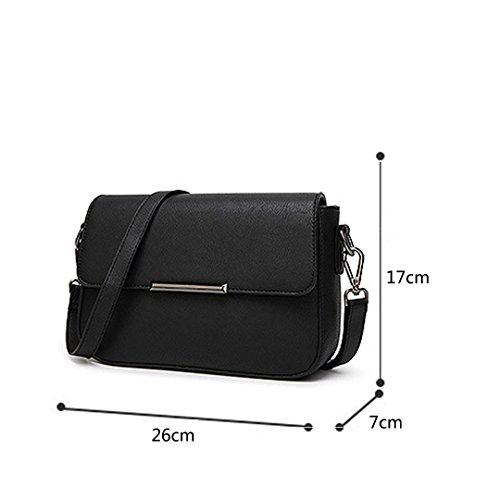 main fashion petit boucle épaule Noir à simple sac cuir PU bandoulière sac sac carré Wewod nouveau femmes ZqBTHT