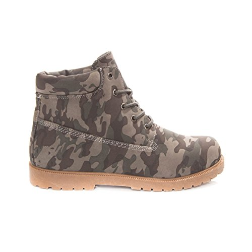 Soho Shoes Women's Military Combat Army Camo Work Boots