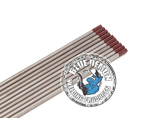 """Blue Demon TE2T X 1/16"""" X 7"""" 2% Thoriated Tungsten Electrode, 10-Pack"""