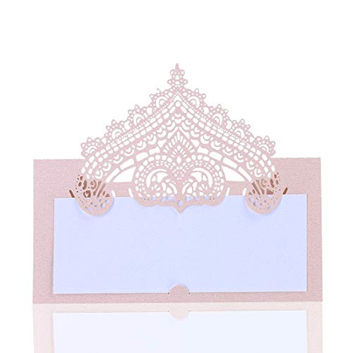 YUFENG Laser Cut Place Cards Table Name Cards for Wedding Birthday Party - Description Card
