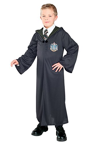 (Harry Potter And The Deathly Hallows Costume, Child's Robe With Slytherin Emblem)