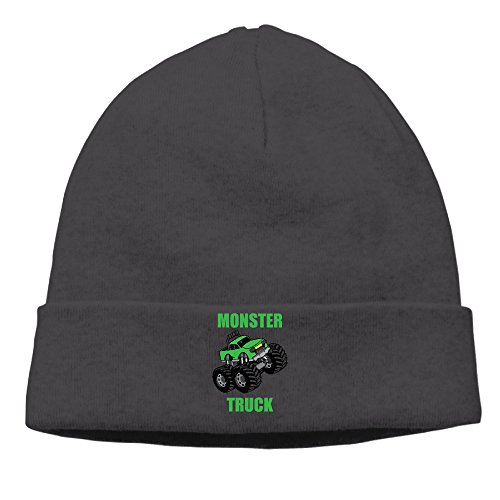 DETED Men&Women Monster Truck Heather Beanie Cap Hat Fall/Winter 2016 (Monster Truck Winter Hat)