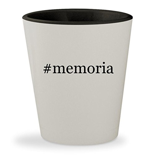 Price comparison product image #memoria - Hashtag White Outer & Black Inner Ceramic 1.5oz Shot Glass