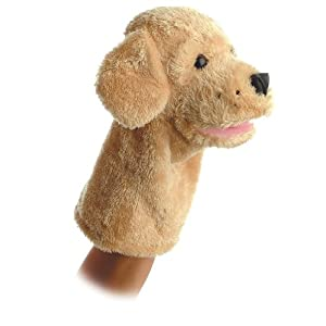 "10"" garth puppet - 41gHpiNkdnL - Aurora World Garth Dog Plush Hand Puppet, 10″"
