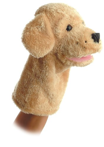 Aurora World Garth Dog Plush Hand Puppet, 10""