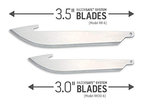 Outdoor Edge Razor Series Replacement Blades -- 6 Blade Pack (3.5 - Inch)