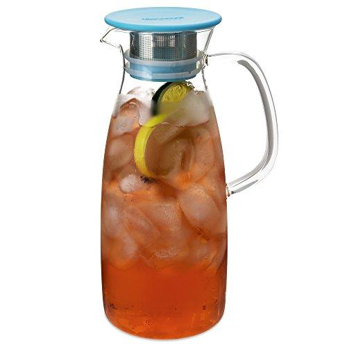 FORLIFE Mist Glass Ice Tea Jug , 50-Ounce, Turquoise