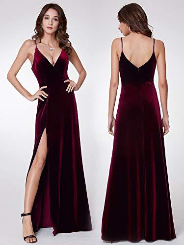Veulours Bordeaux Soire Femme 07180 Moulante en Ever Longue Robe B Pretty de FxqtP1Y