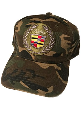 Cadillac Baseball Cap Hat. Camouflage. Classic Army Pattern. Adjustable New! ()