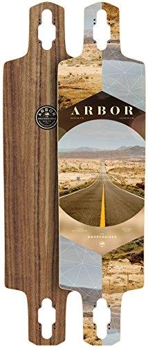 (Arbor Dropcruiser PC 2017 Walnut Longboard Deck New With Grip)