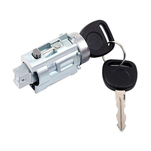 cciyu Ignition Lock Cylinder and Keys Replacement Fits for 1997-2005 Chevrolet Oldsmobile Pontiac