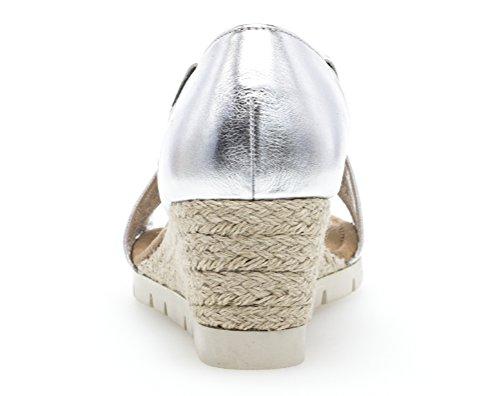 Gabor Shoes Comfort Sport, Sandalia con Pulsera Para Mujer silber (Jute)