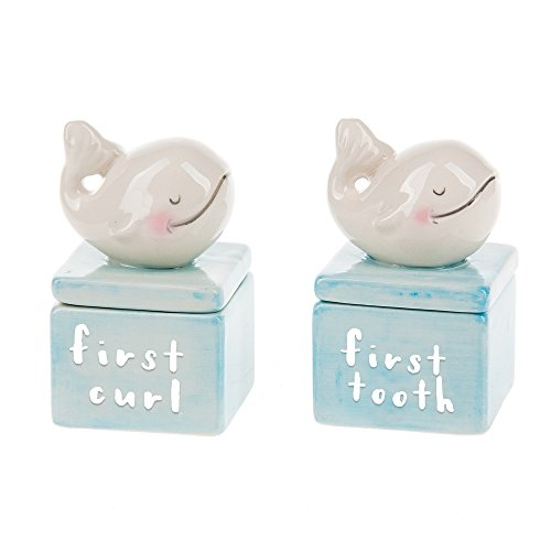Blue First Tooth - Midwest-CBK First Curl and Tooth Keepsake Box Set (Blue Whale)