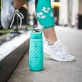 Ello Wren Glass Water Bottle with One-Touch Flip