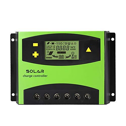 (DishyKooker LCD Display Solar Regulator Smart Solar Charge Controller for Street Road Lighting 60a-12V/24V)