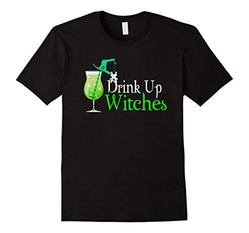 Mens Drink Up Witches Halloween Fanny costum cute tee Shirt 2XL (Cute Halloween Costums)