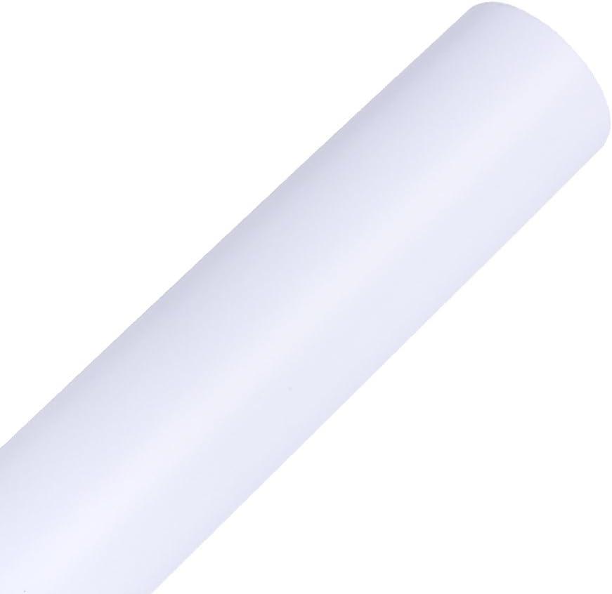 Película autoadhesiva blanca mate 30x300cm del vinilo del rollo del vinilo para cortar los trazadores: Amazon.es: Hogar