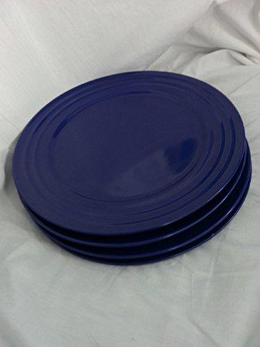idge 11'' Cobalt Blue Dinner Plate (Set of 4) ()