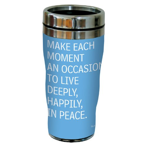 Tree-Free Greetings 77585 Wedding or Anniversary Gift Make Each Moment Art Sip 'N Go Travel Tumbler, 16-Ounce, Multicolored