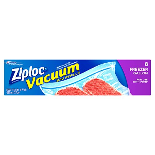 Ziploc Vacuum Bags, Gallon, 8-Count - 10. 7/16 IN X 10. 15/16 IN(Pack of 3) by Ziploc