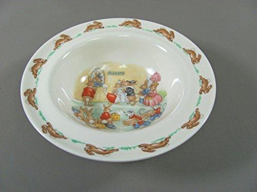 Royal Doulton Fruit Bowl (Royal Doulton BUNNYKINS Fruit/Dessert Bowl TICKET QUEUE Rim)