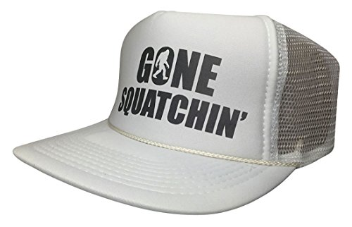 Brand New Gone Squatchin 5 Panel Snapback Cap Funny Bigfoot Hat Trucker Mesh