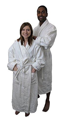 Boca Terry Pillowtex Velour Stripe Men's and Women's Luxu...