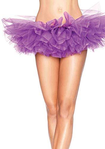 Leg Avenue Women's Organza Tutu, Purple, One Size