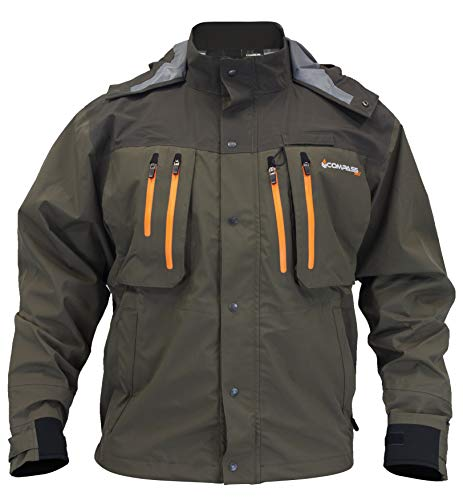 SG23185-8485-MD Pt. Guide Wading Jacket, Stone & Taupe, Md ()