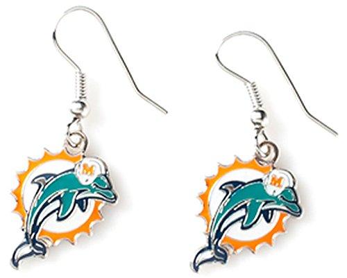 NFL Miami Dolphins Logo Dangler Earrings