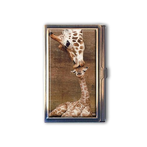 jkfgweeryhrt Giraffe Kiss Custom Portable Business Bank Name Card Case Holder Box Pocket Credit Card ID Wallet