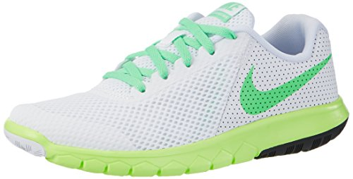 Nike Flex Experience 5 Gs - Zapatillas de running Niñas Blanco (White/electro Green/ghost Green/black)