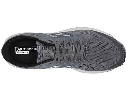 New Balance Men's 520v5 Cushioning Running Shoe, Lead/Light Aluminum/Black, 10.5 D US
