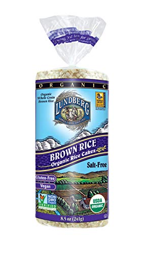 Lundberg Rice Cakes, Salt Free, 8.5 Ounce (Pack of 6), Organic
