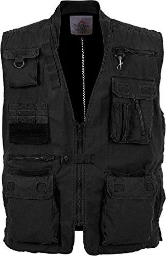 Black Deluxe Outdoors 18 Pocket Hunting Travel Outback Vest