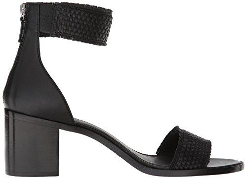 FRYE Women's Bianca Woven Back Zip Heeled Sandal, Black, 7.5 M US by FRYE (Image #7)